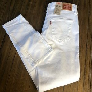 Levi's 311 shaping skinny white mid rise jeans